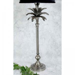 Lampfot blad gammelsilver H50cm