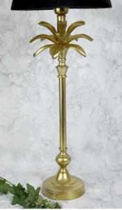 Lampfot blad guld 2 olika storlekar