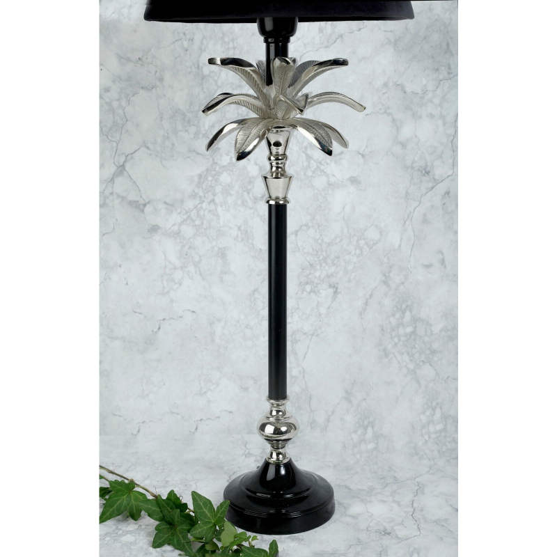 Lampfot blad Svart och Silver