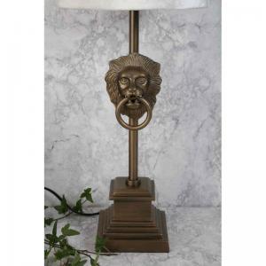 Lampfot Lejon Antikguld H40cm