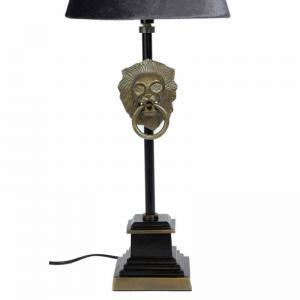 Lampfot Lejon Guld-Svart H40cm E14