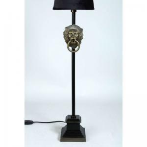 Lampfot Lejon Guld / Svart H60cm E14