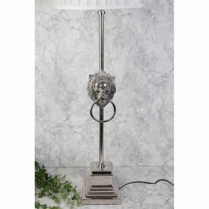 Lampfot lejon silver H80cm