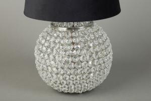 Lampfot Rund med bling H21cm