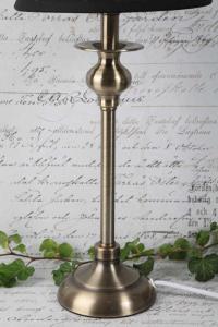 Lampfot Sony borstad stål antikguld  38cm