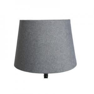 Lampskärm Grovlinné grå rund 13x18x15