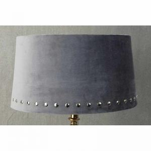 Lampskärm sammet Beige med Silvernitar 30x33x18cm