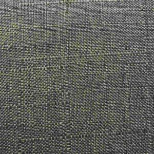 Lampskärm Grovlinné grå rund 27x35x25