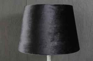 Lampskärm rund sammet olika färger 27x35x25cm