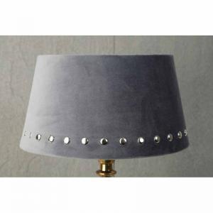Lampskärm Grå med silvernitar 20x25x14cm
