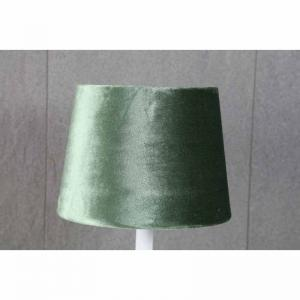 Lampskärm rund sammet olika färger 16x20x15cm