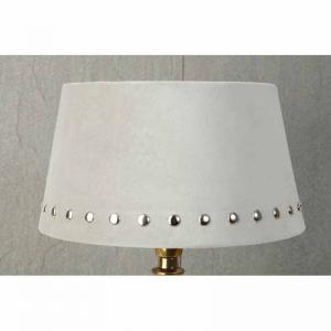 Lampskärm sammet Beige med silvernitar 20x25x14cm