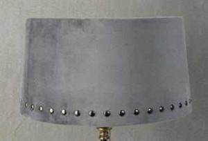 Lampskärm med nitar grå 30x33x18cm