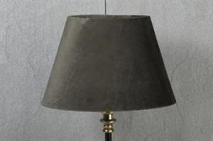 Lampskärm olika färger oval sammet 15x25x16cm