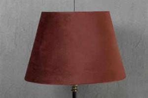 Lampskärm oval sammet olika färger 21x33x21