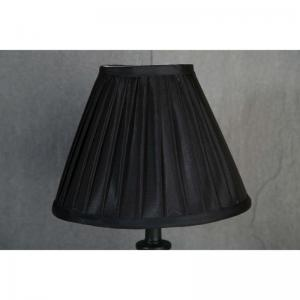 Lampskärm svart med veck