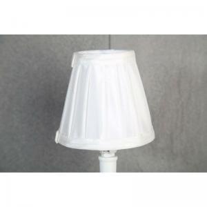 Lampskärm veckad vit liten H10cm