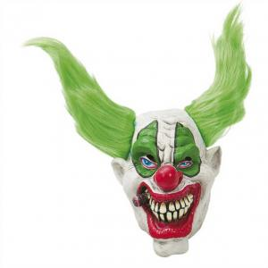 Latexmask Grön Clown