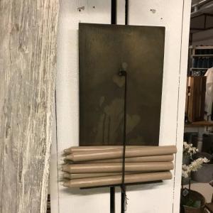 Ljushållare för rustikljus  H40cm x B22cm
