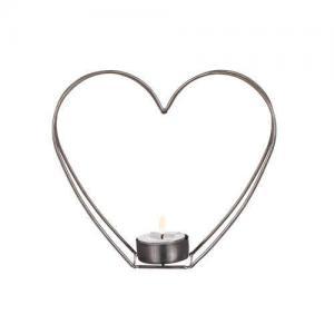 Ljushållare hjärta metall 17cm