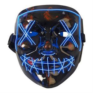 Mask plast med Blå LED tråd som lyser