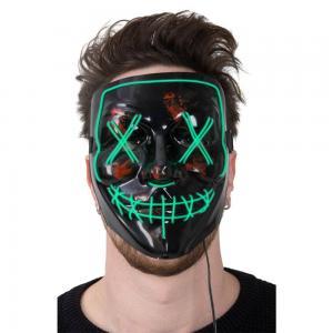 Mask plast med Grön LED tråd som lyser