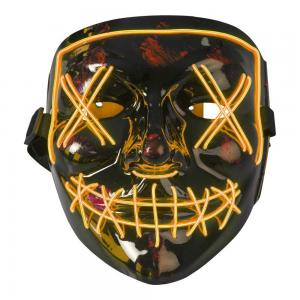Mask plast med Orange LED tråd som lyser