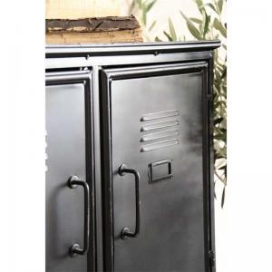 Metallskåp svart patina med 9st skåp