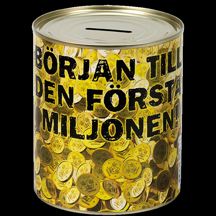 Plåtsparbössa Första Miljonen