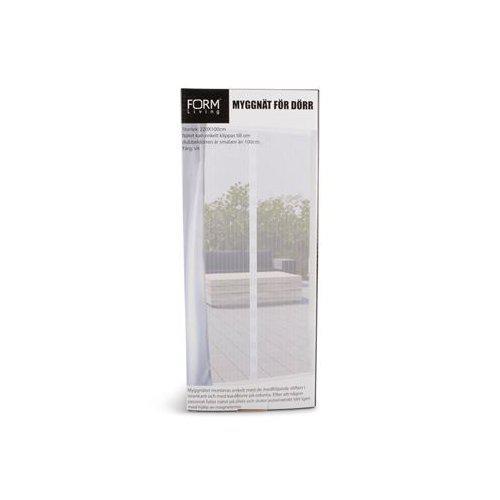 Myggnät vit enkeldörr med magneter