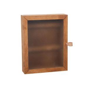 Nyckelskåp trä brun 22x28x6