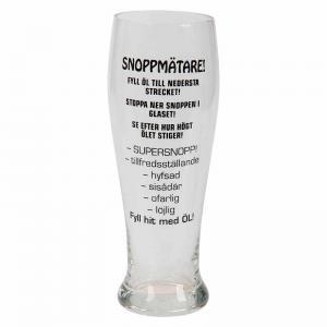 Snoppmätar glas