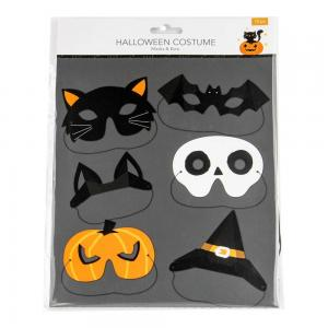 Pappersmask halloween 12pack