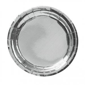 Papperstallrik assiett Silver 18,5cm  8pack