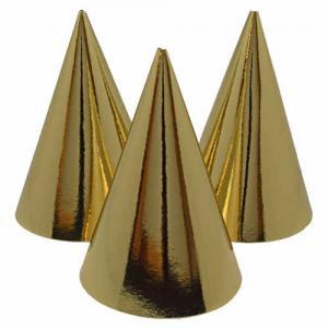 Partyhatt strut guld eller silver 6-pack