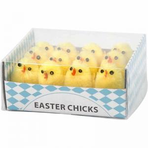 Påskkycklingar små gula 30mm 12-pack