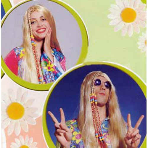 Peruk Hippie blond