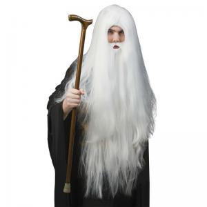 Peruk trollkarl med skägg