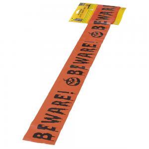 Plastband med text Beware 6meter