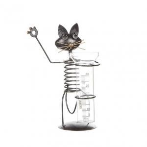 Regnmätare stående katt plåt H28cm