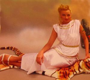 Romarinna klänning vit