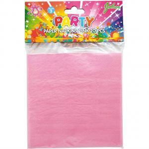 Pappersservetter Rosa 20pack