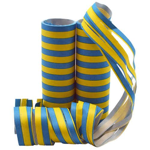 Serpentiner blå gul 2-pack