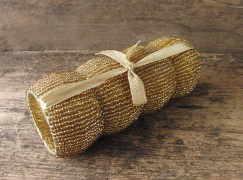 Servetthållare guld paljett 4 pack