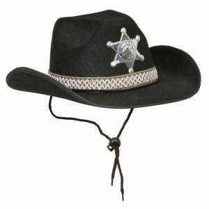 Sheriffhatt Svart