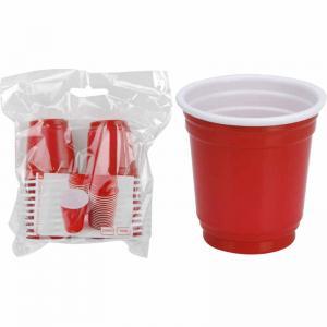 Shotglas plast röda 20-pack