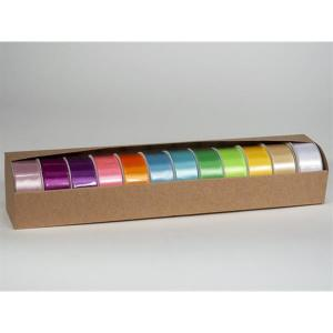 Sidenband L blandade färger 12pack 25mm