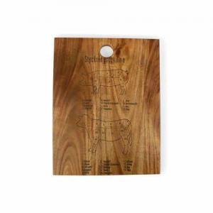Skärbräda styckningsschema 32x25x1,7cm