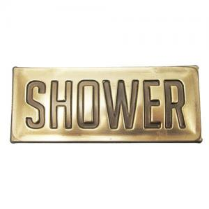 Skylt med text Shower L19cm