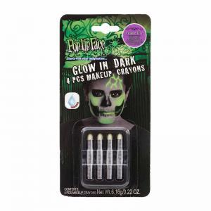 Smink kritor Glow in dark 4pack